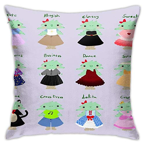 Opahxa5 Tree Girl's Many Fashions Throw Pillow Covers Both Sides Cotton Pillow Case Decor Home Sofa Square Cushion Cover 18x18 in