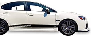 Bubbles Designs Decal Sticker Vinyl Side Racing Stripes Compatible with Subaru Impreza WRX 2013-2016 (Black)