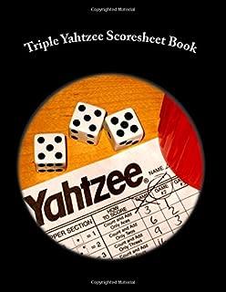 Triple Yahtzee Scoresheet Book: 400 Pages (200 sheets)