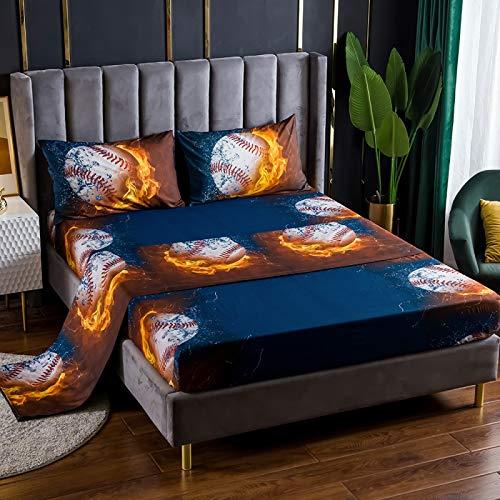 Xiaomizi Sábanas planas: sábanas de lujo son transpirables, lo que te mantiene fresco y cómodo: 153 x 203 Cuatro ropa de cama