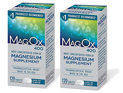 Mag-Ox 400 Magnesium Mineral Dietary Supplement Tablets, 483 Mg Magnesium Oxide, 240 Count
