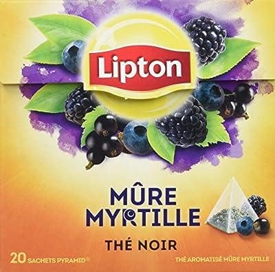 Lipton Thé Noir Mûre & Myrtille, Label Rainforest Alliance 20 Sachets parent