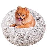 BVAGSS Cama de Gato Extra Suave Cómodo Lindo Lavable de la Cama Sleeping Sofa para Mascotas Deluxe para Gatos y Perros XH062 (Diameter:40cm, Gradient Khaki)