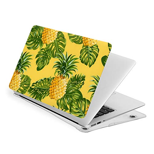 Tropical Leaf Pineapple Green Yellow Laptop Cover Protective Case MacBook 13 Air is Suitable A1466 A1369 MacBook New Air13 is Suitable A1932. MacBook 15 Touch is Suitable A1707 A1990