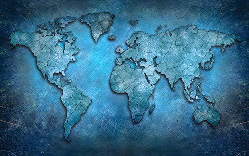 Abstrakte 3D-Weltkarte Leinwand Malerei moderne Globus Karte gedruckt auf Leinwand in Büroraum Bild Wandkunst rahmenlose dekorative Malerei A87 30x40cm