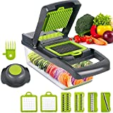 Vegetable chopper, Onion chopper Mandoline Slicer with Stainless steel blade Include Clean Brush and...