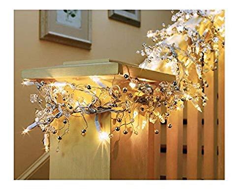 GE 9 ft Glitter Gem Garland Christmas Holiday Decoration Lights