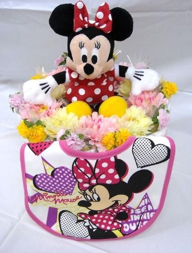 調子オフセット追い出すご出産お祝い<おむつケーキ> リーズナブルなお値段のかわいいおむつケーキ ディズニーD (女の子用ミニー)パンパースS