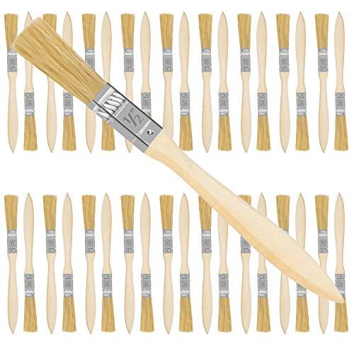 Kurtzy 12,7 mm Pinsel Set Maler Pinselset (36er Pack) - Profi Pinsel zum Streichen mit Holzgriff, Lasieren, Lackieren, Kleben und Basteln - Malerpinsel Set