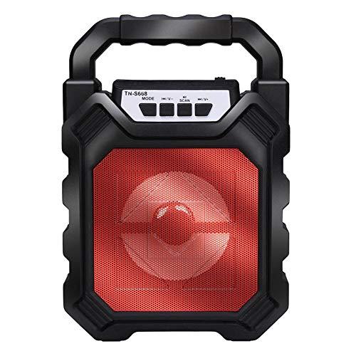 KAR Mini Powered Voll 50W drahtlose Bluetooth 4.2 + DER drahtlose bewegliche Multimedia LED Outdoor Camping Smart Speaker,B