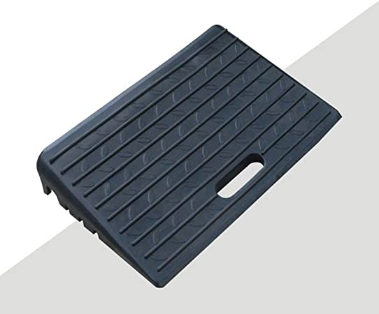 Industrial Ramp 11cm Portable Road Along Slope Slope Anti-Skid Ladder Pad Wheel Wheel Speed Reducer Ramps Color : Black, Size : 40x20x11cm