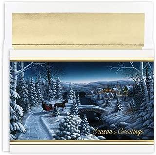 Masterpiece Studios Snow Scene Season's Greetings Boxed Holiday Cards, Set of 18