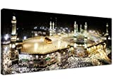 Large Islamic Canvas Wall Art Prints of Muslim Hajj Pilgrimage to Kabba in Mecca at Night - 1190 - Wallfillers® by Wallfillers