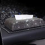 YXNVK Diamant Strass dekorative Tissue Box Halter für Home Car Office Autoteile tragbare Auto Tissue Box
