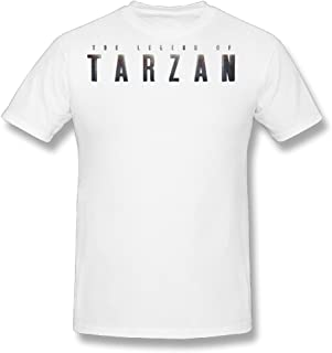 Flesiciate1 Mens The Legend Of Tarzan- Wallpaper Letters Design T-Shirt