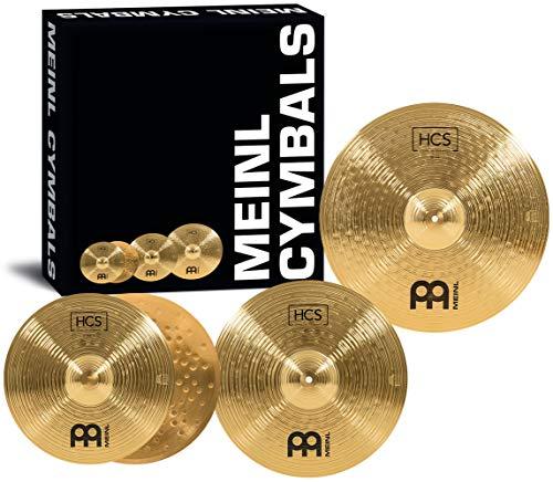 Meinl Cymbals HCS Complete Becken Set Box Pack mit 14 Zoll Hihats, 16 Zoll Crash und 20 Zoll Ride Becken für Schlagzeug – Messing, traditionelles Finish (HCS141620)