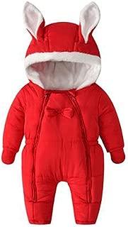 Inlefen Baby Newborn Onesies Jumpsuit Pjs Autumn Winter Thickening Hoodied Zipper Cotton Romper Outfit Sleepsuits for Girls Boy Baby
