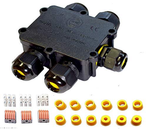 Sucre Auxiliary ® 24 A 450 V 5 Wege IP68 Wasserdicht Elektrisches Kabel Wire Connector Abzweigdose