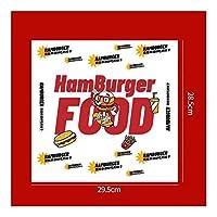 YVCHEN 100個オイルプルーフワックスペーパーのための食品ラッパー紙パンのサンドイッチバーガーフライドポテトラッピングベーキングツール (Color : A13)