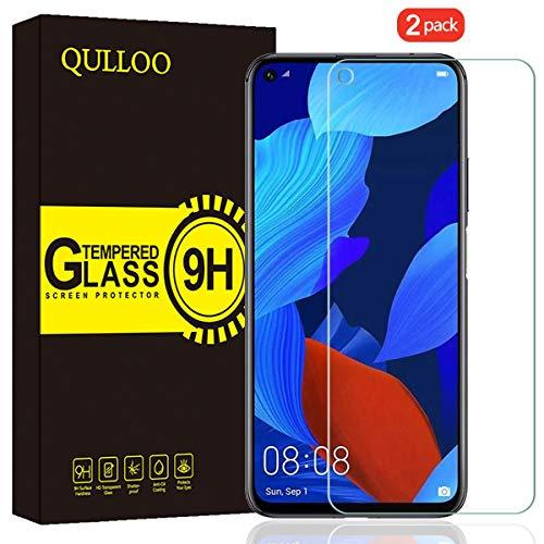 QULLOO Panzerglas für Huawei Nova 5T / Honor 20 Pro/Honor 20, 9H Hartglas Schutzfolie HD Bildschirmschutzfolie Anti-Kratzen Panzerglasfolie - [2 Stück]