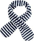 Playshoes Mdchen Fleece-Steckschal maritim kuschelig weicher Halswrmer mit Schlaufe zum Einstecken, Marine/wei, one Size