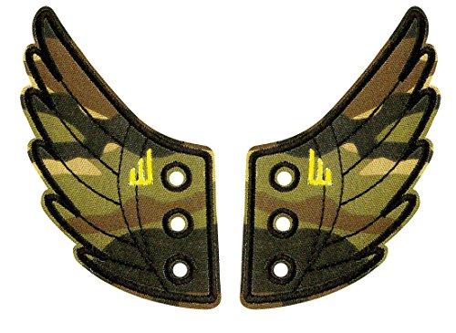 DONKEY Products Flügel für die Schuhe, Shwings, 2-tlg, Schuhflügel für Schnürschuhe, Camouflage, 330616