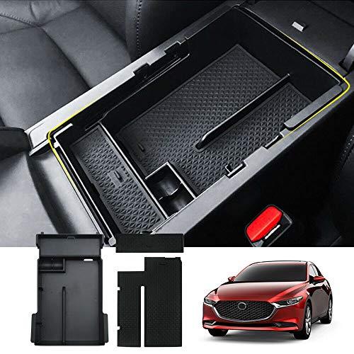 Scatola di immagazzinaggio Central del coche Interior caja de almacenamiento organizador del envase for Mazda 3 2019 Axel plástico ABS 2020