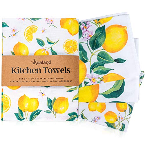 Top 10 Best Selling List for kitchen towels with lemons