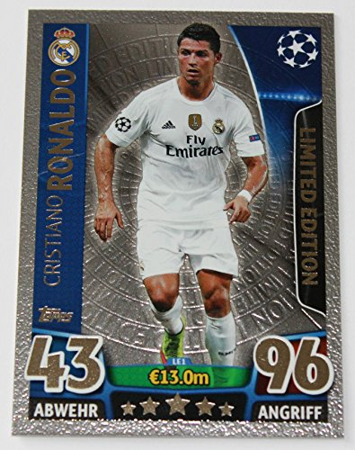 Topps Match Attax Champions League 2015/2016 Ronaldo limited Edition Karte