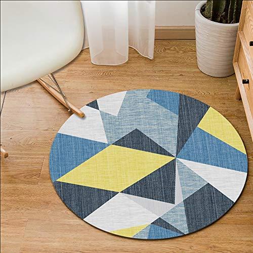 La géométrie Ronde Simple Nordique Tapis de Salon Moderne Design, Polyester Lavable en Machine, Une variété de Tailles et de Styles, (80cm-200cm),F,120CM