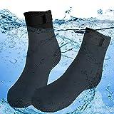 Calcetines de buceo, de neopreno de 3 mm para buceo, esnórquel, voleibol de playa, natación, surf, canotaje, kayak, deportes acuáticos, calcetines antideslizantes para hombres, mujeres (EU 42-43)