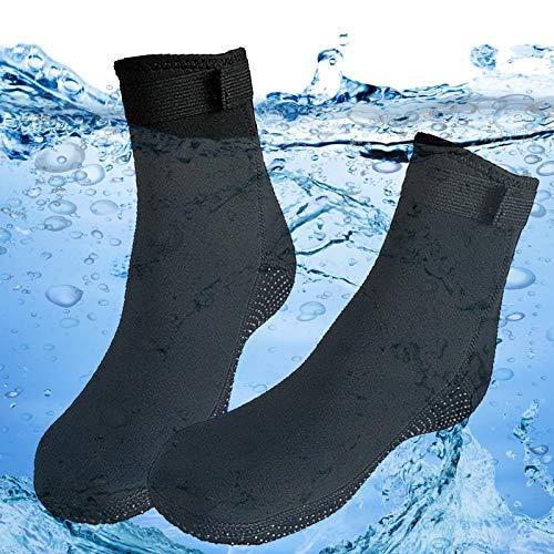 Exnemel Tauchsocken, 3mm Gummi Neopren Socken für Tauchen Schnorcheln Beachvolleyball Schwimmen Surfen Bootfahren Kajakfahren Wassersport, Anti Rutsch Flossen Socken für Männer, Frauen (EU 44-45)