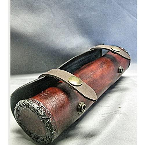WFTD Cintura De Cuero Vintage Mini Cilindro Snap Bag, Cartera De Cinturn De Cintura Retro Gtico Medieval, Mujer Steampunk Knight Pirate Cosplay Disfraz Accesorio