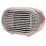 DJXLMN Calefactor Ventilador Retro de Escritorio, incombustible, de Poco Ruido, Calefactor Electrico de pequeña Oficina en casa,Rosado