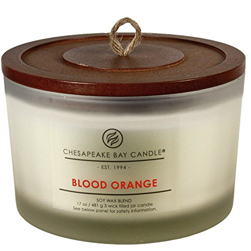 Chesapeake Bay Candle PT18456 3-Wick Scented Candle, Blood Orange, Coffee Table Jar