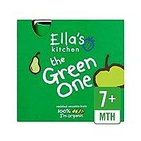 キッチン有機スムージー果物緑1 5×90グラム (Ella's) - Ella's Kitchen Organic Smoothie Fruits The Green One 5 x 90g [並行輸入品]