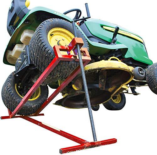 Cilindro telescópico, jack cortadora, elevación del cortacésped, Jack tractor de jardín,81 x 51.8 x 13.4cm