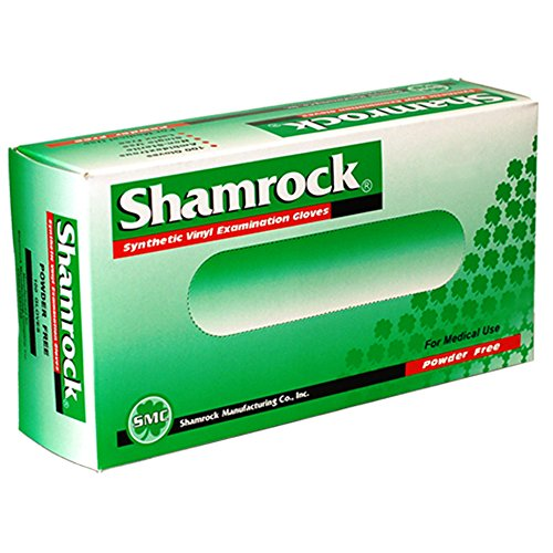 Shamrock 20214-XL-cs Med Glove, Vinyl, No Powder, Thin, Cheap, X-Large, Clear