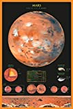 Laminated Mars Planet Educational Chart Poster 24x36