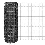 Tidyard Malla de Alambre Malla de Acero Valla de Tela Metálica Euro Fence Decoración Protección para Aves Cachorros Instalaciones en Jardín Industria Granja Transporte Malla 77x64mm Gris 10x1m