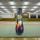 SALUTUYA avec Sac Transparent Colonne de Formation de Boxe Colonne de Boxe Debout équipement de Remise en Forme Colonne de Boxe Gonflable pour Le Fitness(165CM Adult Column)
