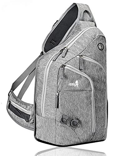Plus Oversized Sling Bag for Men Women, Extra Durable Rope Strap shoulder sling bag Chest Backpack for Outdoor 28L