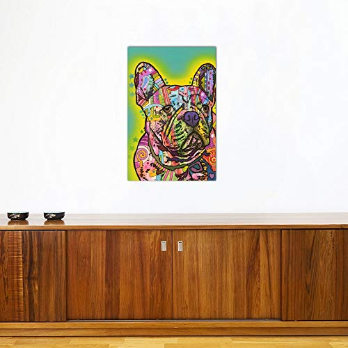 iCanvasART DRO119-1PC3-18x12 iCanvas French Bulldog III Print by Dean Russo, 18' x 12'