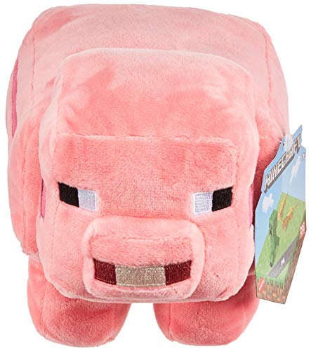 Minecraft Plush 8-in Pig Character Doll, Soft, Collectible Gift for Fans Age 3 and Older