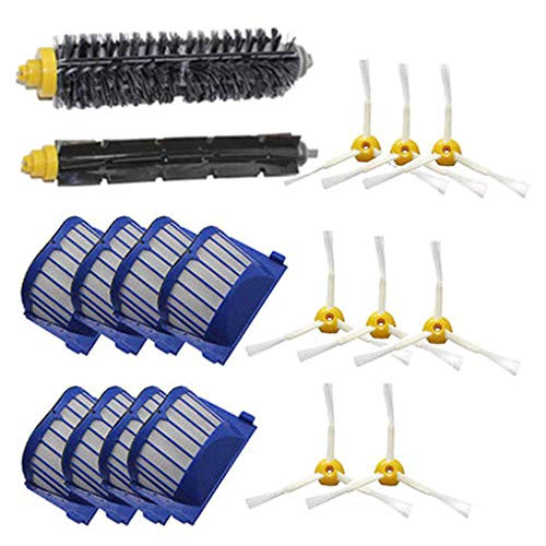 Guangcailun Filtro 18PCS / Set cerda Flexible batidor Cepillo para la Serie 600 Accesorios er vacío