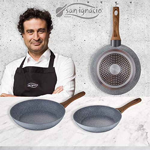 San Ignacio Set 3 Sartenes 18/20/24 Daimiel, Aluminio Forjado, Inducción, Multicolor