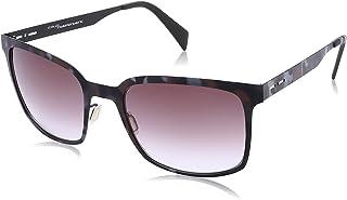 نظارة شمس بعدسات مربعة متدرجة اللون وشنبر نقشة مموهة للنساء من ايطاليا انديبندنت - بني