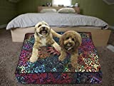 Janki Creation Funda de cojín para cojín con diseño de mandala indio, bohemio, redondo de 35 pulgadas, para perro, cama de yoga