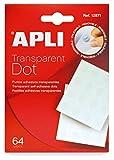 APLI 12871 - Pack de 64 puntos adhesivos doble cara removibles