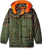 iXtreme Baby Boys' Camo with Grid Cut and Sew Puffer, Forest, 24 Months